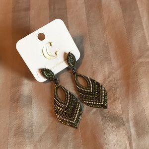 Olive Earrings NWT!!